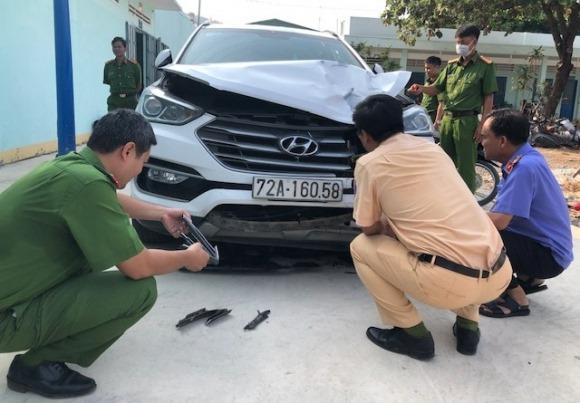 Đại úy công an bị tài xế phóng ô tô 100km/h tông trúng đã hy sinh