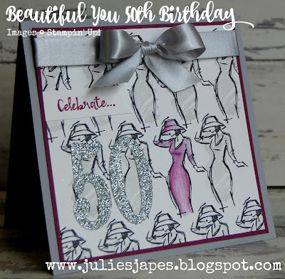50th Birthday Card with Beautiful You
