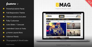 BMAG V2.1.1 – Magazine Responsive Blogger Template Free Download