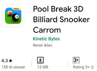 Game Pool Break 3D Billiard Snooker Carrom