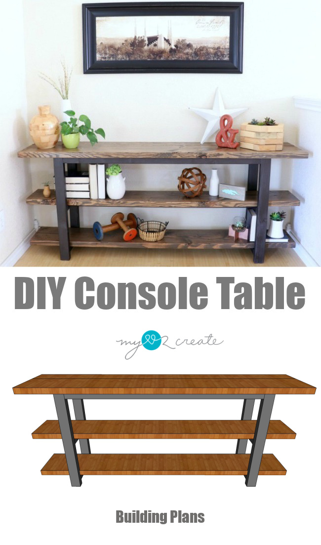 How to build your own DIY Console Table printable plans, MyLove2Create