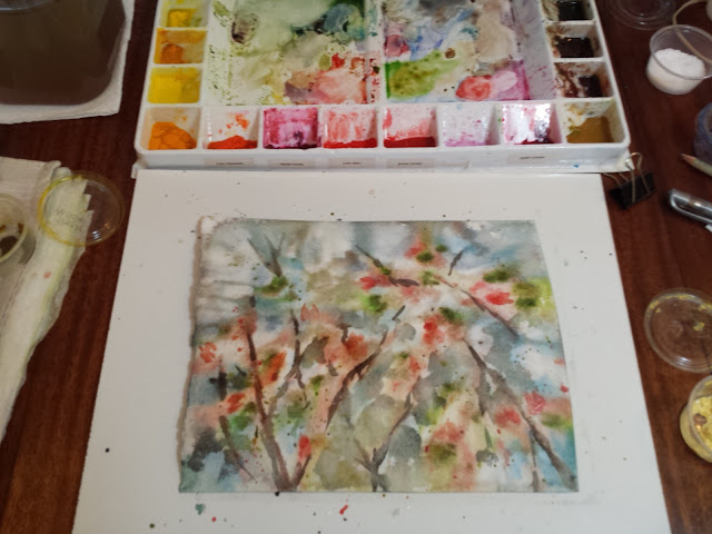 Watercolor in progress from today's paint session.