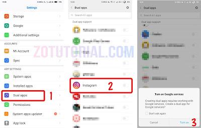 Dual Apps Whatsapp & Insatgram di Hp Smartphone Android Xiaomi