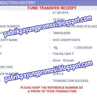 Customer Transfer Sejumlah Uang