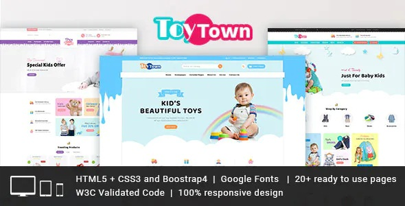 Best Kids Clothing & Toys Responsive HTML Template