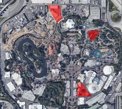 Disneyland Possible Expansion Pads 2019 Satellite View
