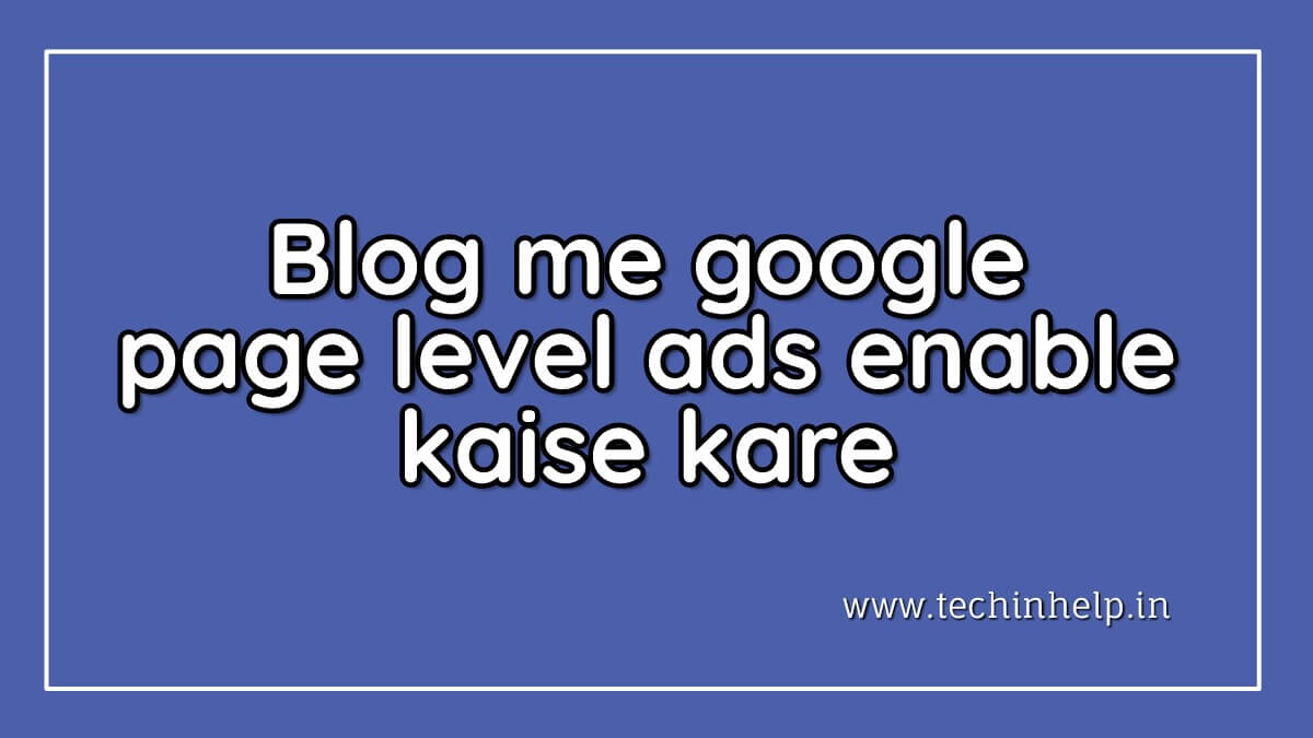 Page level ads