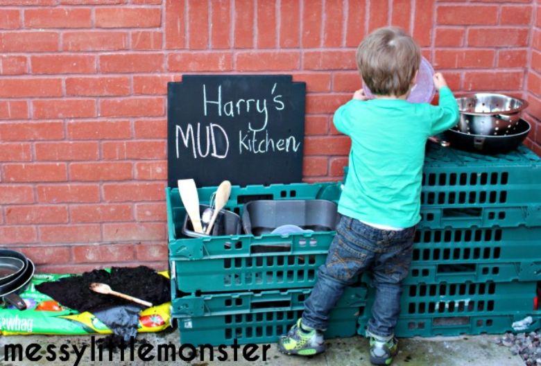DIY mud kitchen - Spring activities for kids
