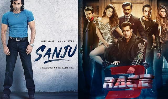 Salman Khan और Ranbir Kapoor के बीच में हुई जंग Race 3 Vs Sanju