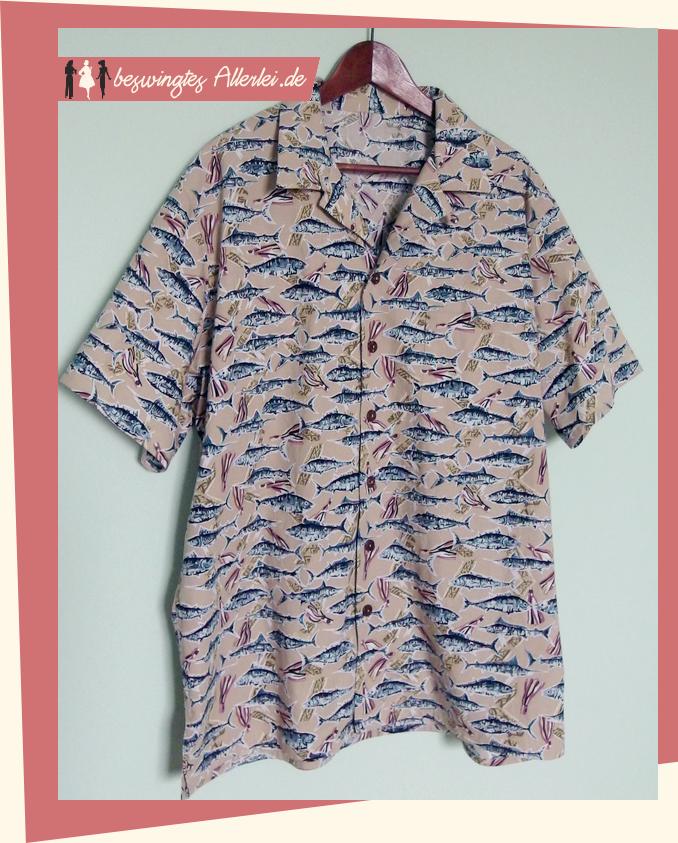 Beswingtes Allerlei: Fertig: Ein zweites Hawaiihemd für den Gatten!