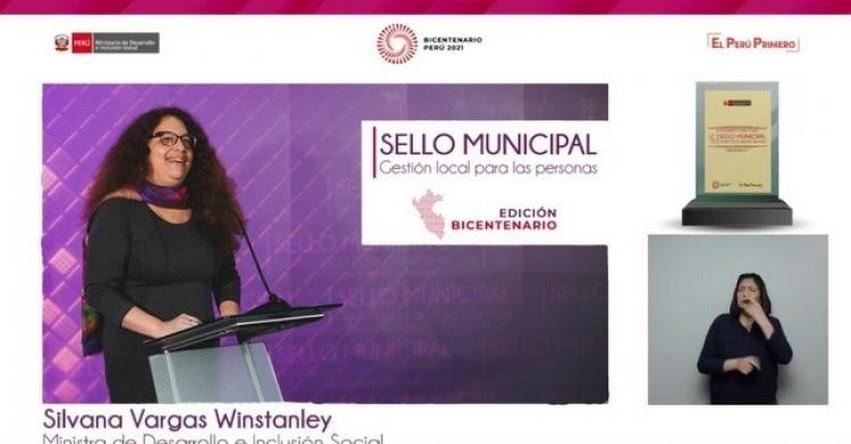 MIDIS reconoció a 301 gobiernos locales con el Premio Sello Municipal Edición Bicentenario por cumplir metas en favor de sus poblaciones