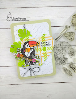 Tropical Toucans a card by Diane Morales | Toucan Party Stamp Set by Newtons Nook Designs