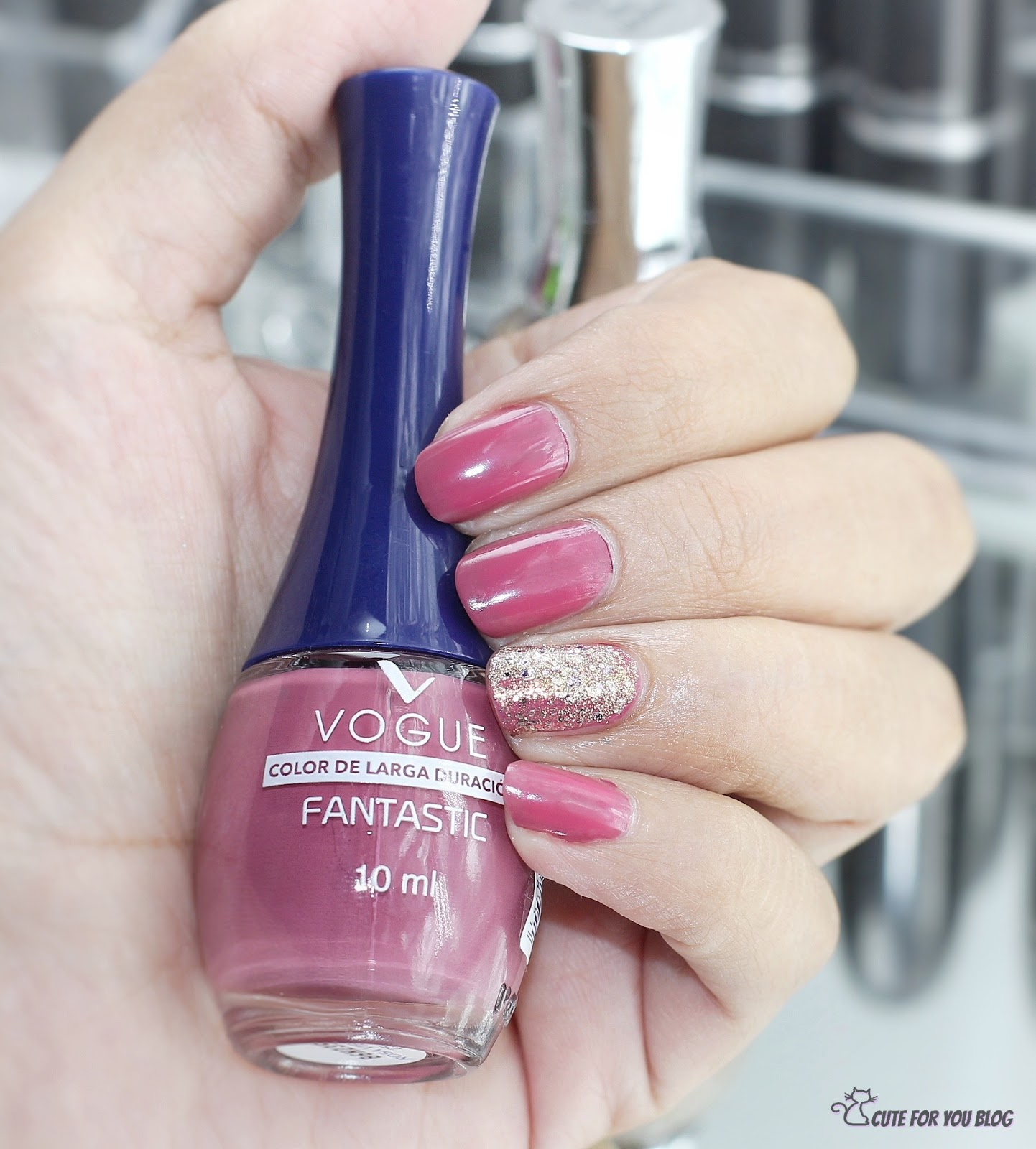 vogue cosmetics, uñas, esmaltes vogue, vogue argentina, bloggers argentina, cute for you, karolina luke, nails, nail polish, vogue fantastic esmalte, 25 rosa viejo vogue, vogue uñas