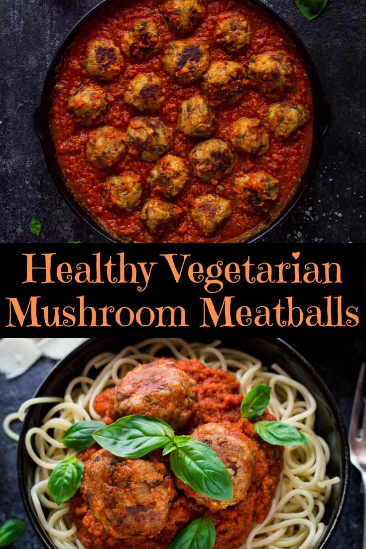 Healthy Vegetarian Mushroom Meatballs