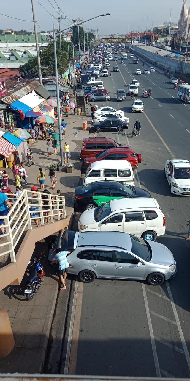 Cars parked on bike lane