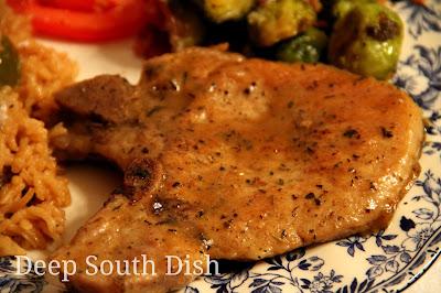 Pan Fried Thin Pork Chops