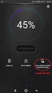 contoh app/task killer