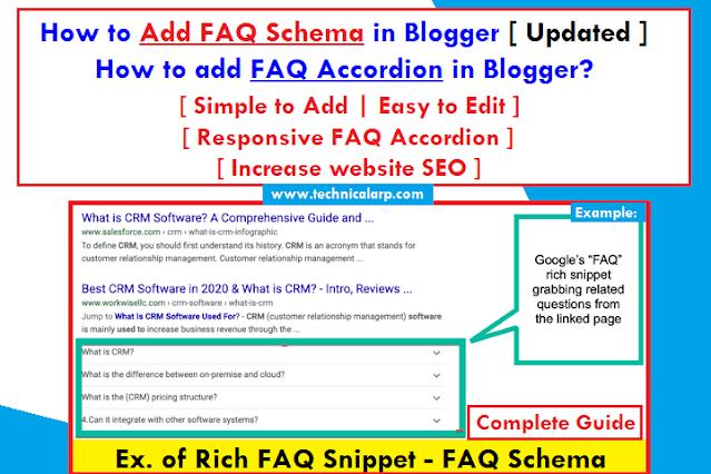 How to Add FAQ Schema in Blogger Post Complete Guide