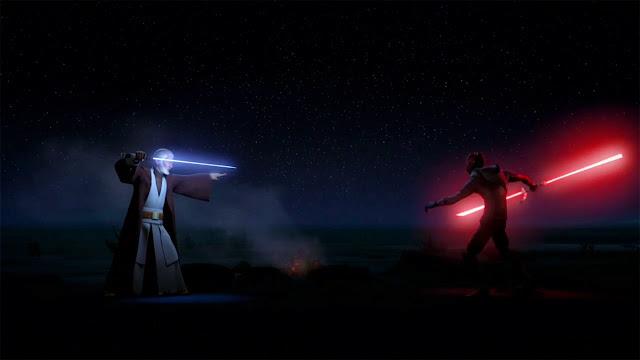 Film Geek Guy - Darth Maul vs Obi-Wan - Star Wars Rebels Video Game