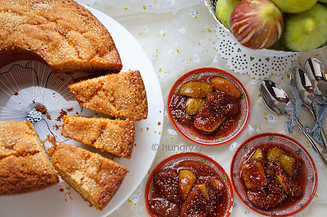 Κέικ Φρέσκων Σύκων και Γλυκό του Κουταλιού Σύκο