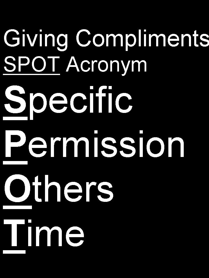 List of one word Compliments Examples