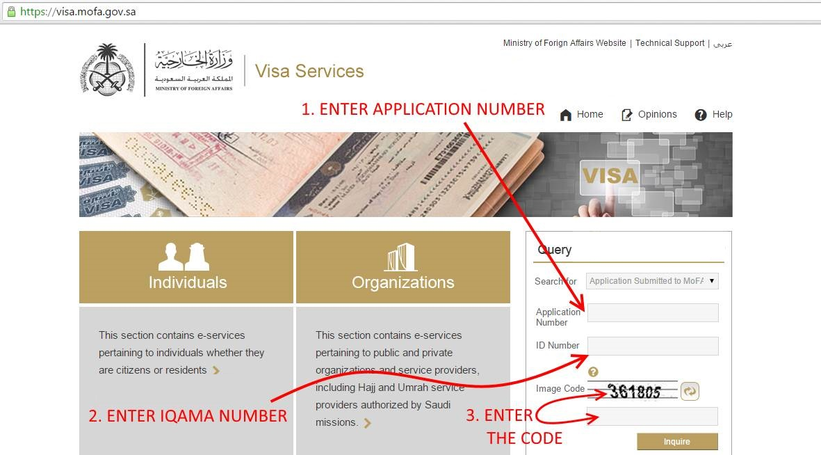 Number check for saudi visa application
