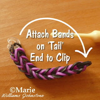 Use a C or S clip to finish the pattern