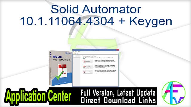 Solid Automator 10.1.11064.4304 + Keygen