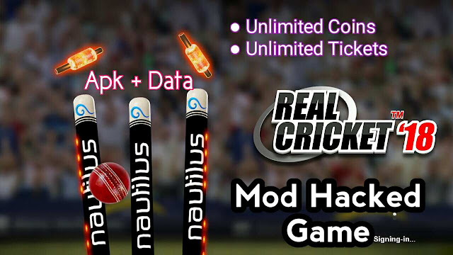 Real cricket 18 mod apk and data