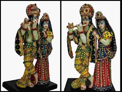 Sacred Blessings Lord Krishna Radha Murti