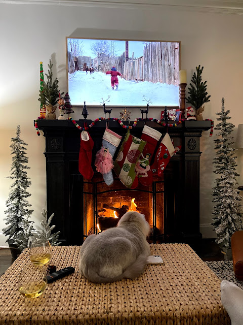 Frame TV over fireplace