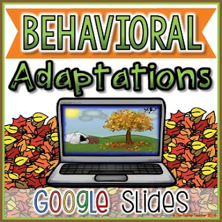 Behavioral Adaptations Student Activity in Google Slides