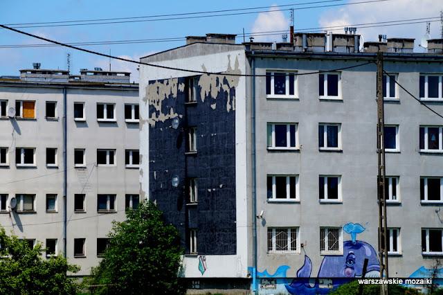 Warszawa Warsaw Olszynka Grochowska osiedle getto eksmisja Praga Południe mural bloki architektura architecture w polu między torami