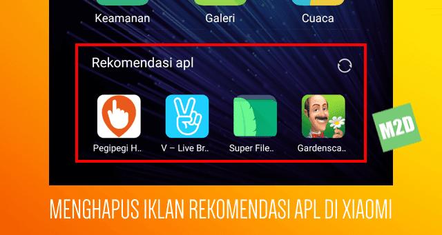Hapus iklan aplikasi Xiaomi Redmi