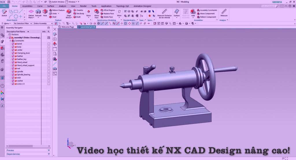Video khóa học Thiết kế NX CAD Design Nâng cao