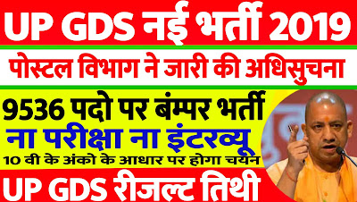 Uttar Pradesh Post Office GDS Recruitment 2019