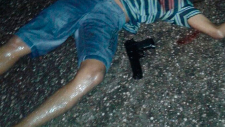 morto a tiros por vítima