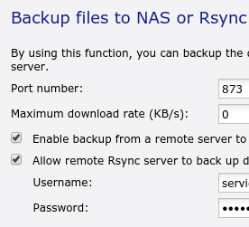 This and That: Rsync server on QNAP nas