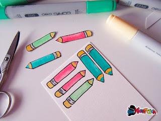 matite disegnate con copic