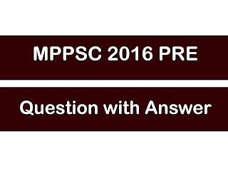 MP PSC Prelims Question Paper With Answer |