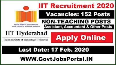 IIT Recruitment for 152 Non-Teaching Posts