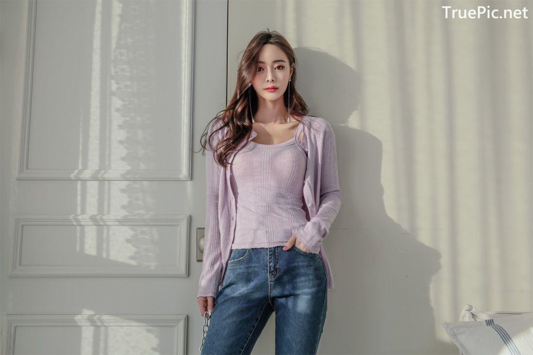 Image-Korean-Fashion-Model-Kim-Bo-Ram-Jeans-Set-Collection-TruePic.net- Picture-4