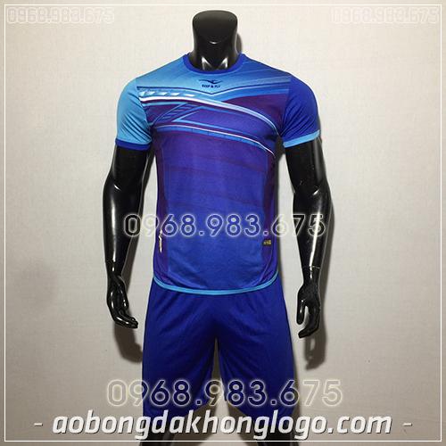 Áo bóng đá ko logo KeepFly PVĐ màu xanh dương