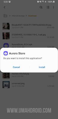 Install Aurora Store Terbaru