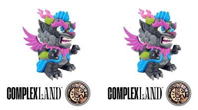 ComplexLand Exclusive Dark Imperial Lotus Dragon Vinyl Figure by Scott Tolleson x 3DRetro