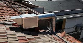caja de extracción 400 grados en tejado de Madrid