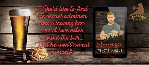 She'd like to find the secret admirer who's leaving her secret love notes around the bar… But he won't reveal himself.