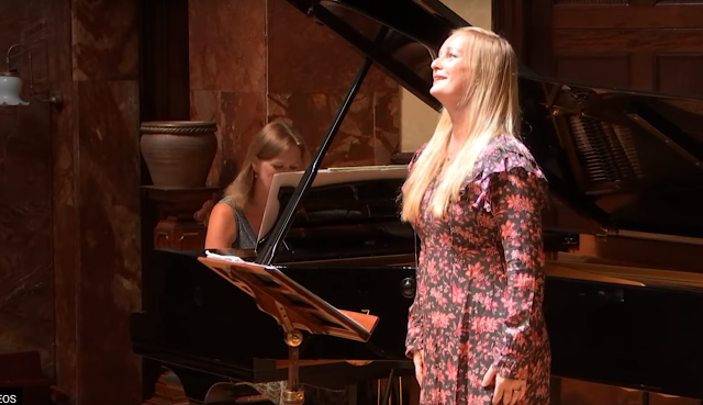 Anna Tilbrook and Lucy Crowe at the Wigmore Hall (Image taken from Wigmore Hall's live stream)