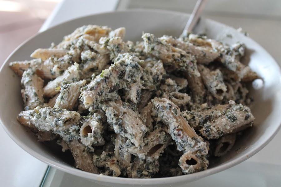 macarrones con algas