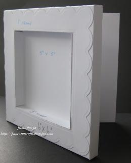 Pamscrafts Shadow Box Useing Spellbinder Square Dies